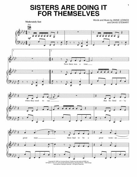 Eurythmics sheet music to download and print - World center of ...
