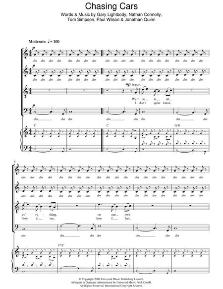Snow-Patrol sheet music to download and print - World center of ...
