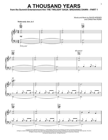 Download Digital Sheet Music Of Twilight For Piano Vocal And Guitar