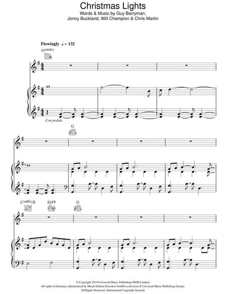 Christmas Lights Sheet Music To Download And Print World Center Of