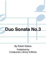 Duo Sonata No.3 sheet music