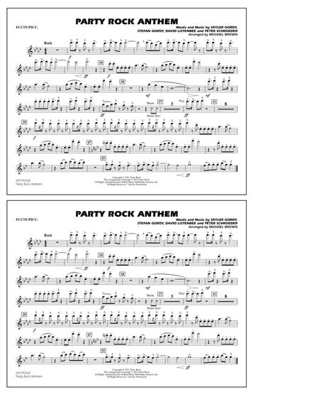 Party Rock Anthem Marching Band Arrangement Pdf To Jpg