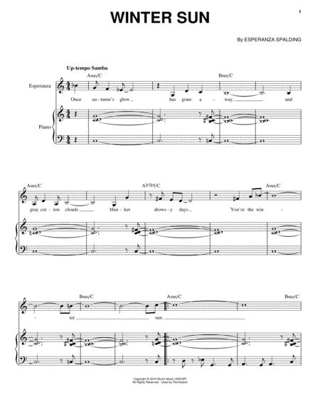 Esperanza-Spalding sheet music to download and print - World