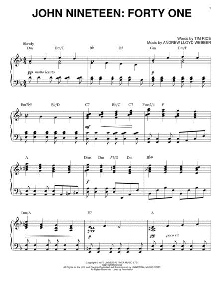 jesus christ superstar sheet music