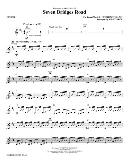 Download Digital Sheet Music of The Eagles for Guitar