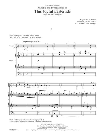 Download Digital Sheet Music for Organ, Trumpet (duet)