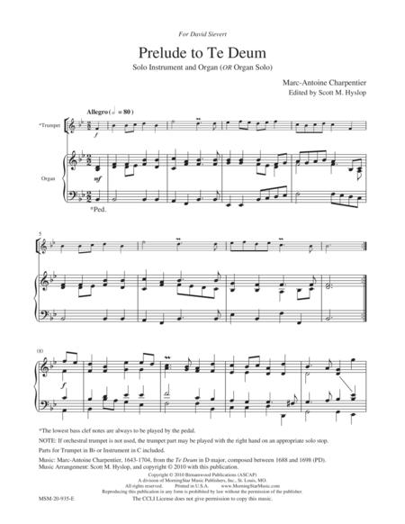Charpentier Prelude From Te Deum Pdf
