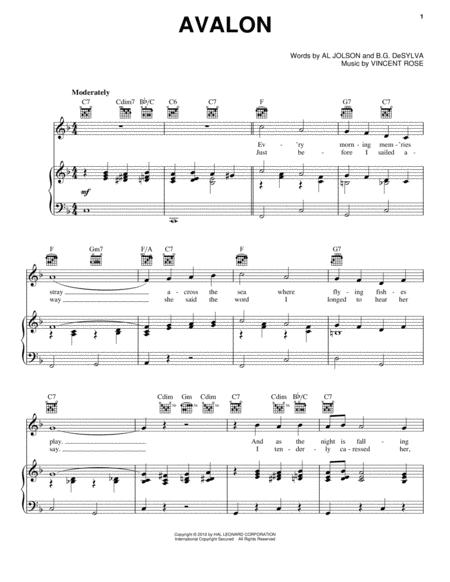 Vincent Rose sheet music to download and print - World center of ...