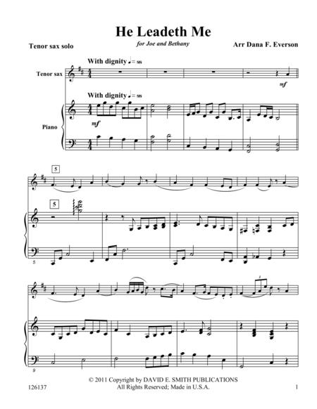 Download Digital Sheet Music for Tenor Saxophone and Piano