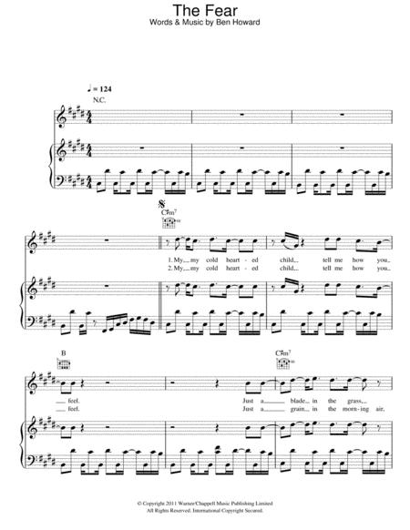 Download Digital Sheet Music of The Fray Piano, Vocal and Guitar for ...