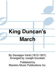 King Duncan's March sheet music