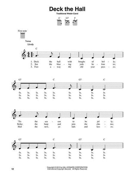 Sheet Music 3 Chord Christmas Carols Ukulele
