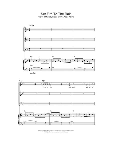 Download Digital Sheet Music of adele for Piano, Vocal and Guitar