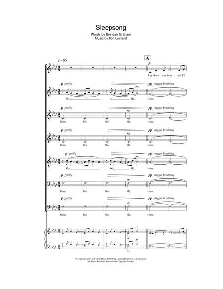 Secret Garden Sheet Music To Download And Print