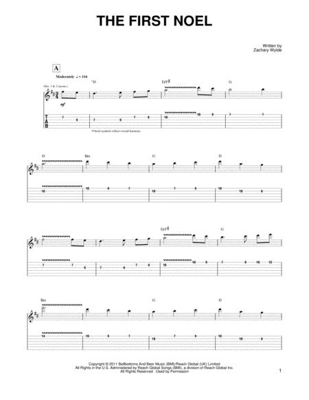 by zakk wylde black label society and zachary wylde christmas guitar tab 10 pages published by hal leonard digital sheet music