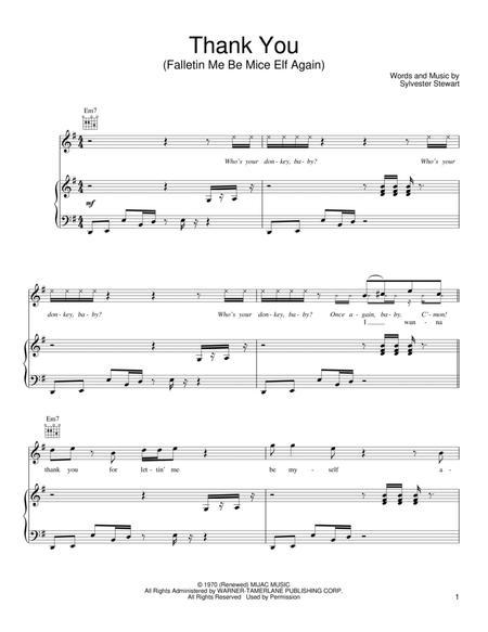 Download Digital Sheet Music of Sly and the Family Stone for Piano ...