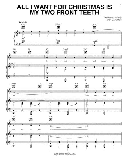 pianovocalguitar chords only children christmas winter hal leonard digital sheet music all i want - All I Want For Christmas Guitar Chords