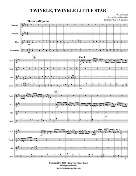 twinkle, twinkle little star sheet music to download and print ...