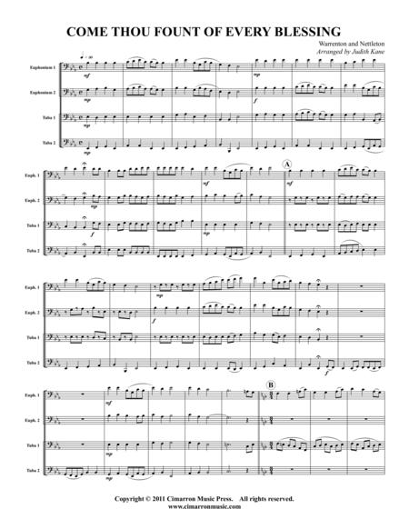 Come Thou Fount of Every Blessing sheet music to download and print ...