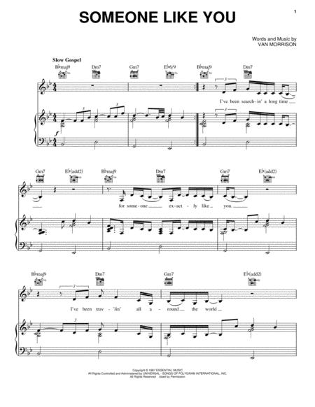 Download Digital Sheet Music Of Van Morrison For Piano Vocal And Guitar