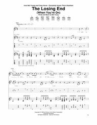 Neil Young  Sheet Music (When You're On) The Losing End Song Lyrics Guitar Tabs Piano Music Notes Songbook