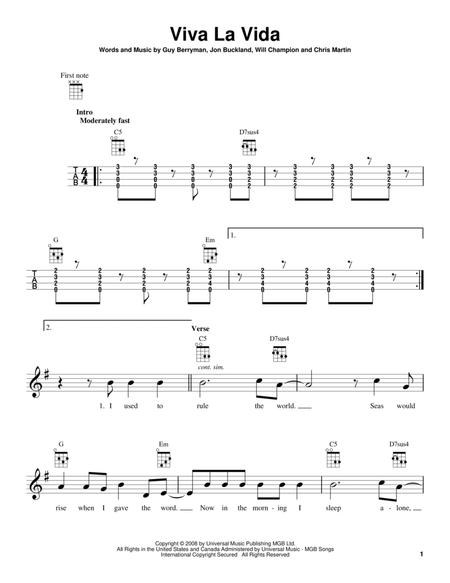 Coldplay: Viva La Vida sheet music to download and print - World ...