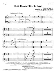 Matt Redman  Sheet Music 10,000 Reasons (Bless The Lord) - Harp Song Lyrics Guitar Tabs Piano Music Notes Songbook