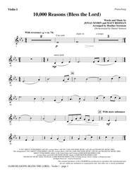 Matt Redman  Sheet Music 10,000 Reasons (Bless The Lord) - Violin 1 Song Lyrics Guitar Tabs Piano Music Notes Songbook