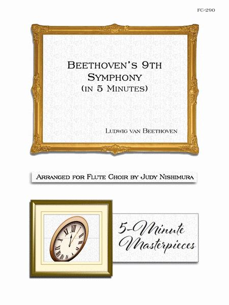 Sheet music: Beethoven's 9th Symphony (in 5 Minutes) (Flute