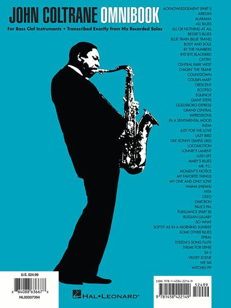 Sheet music: John Coltrane - Omnibook (Bass Clef Instruments)