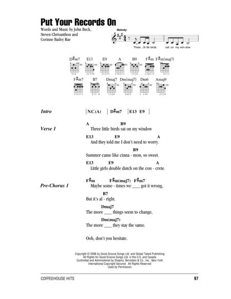 corinne bailey rae sheet music to download and print - World center ...