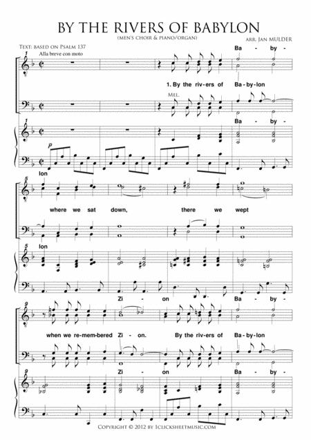 By The Rivers Of Babylon Sheet Music To Download And Print World