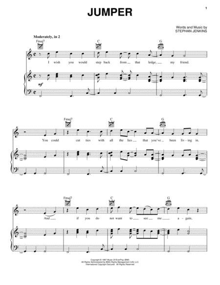 Third Eye Blind sheet music to download and print - World center of ...