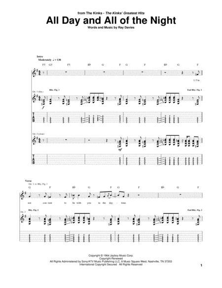 The Kinks Sheet Music Books Scores Buy Online