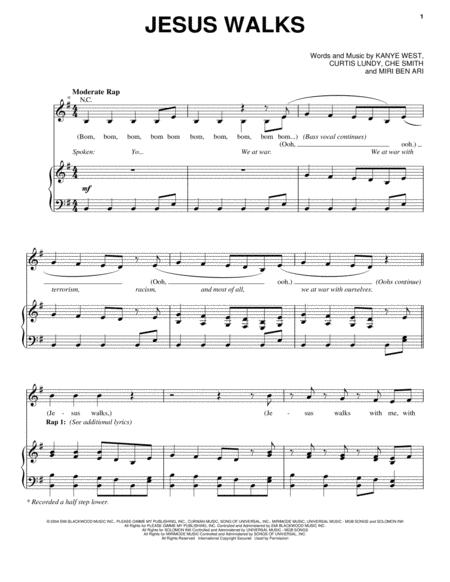 Kanye West sheet music to download and print - World center of ...