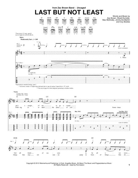 Zac-Brown-Band sheet music to download and print - World center of ...
