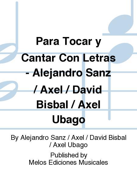 Buy Alejandro Sanz Sheet Music Sanz Alejandro Music Scores