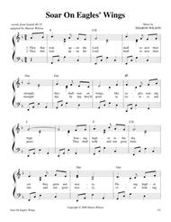 "Michael joncas ""on eagle's wings"" sheet music in eb major."