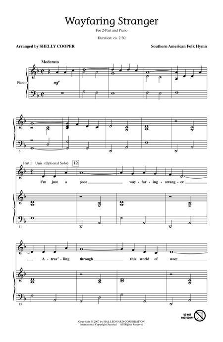 Traditional Wayfaring Stranger sheet music to download and print ...
