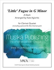 'Little' Fugue in G Minor - For Clarinet Quartet sheet music