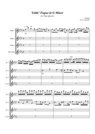 'Little' Fugue in G Minor - For Flute Quartet sheet music