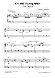 Romantic Wedding March - Short Version for Organ sheet music