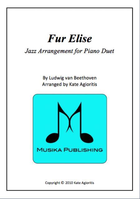 Download Digital Sheet Music Of Fur Elise For 2 Pianos 4 Hands