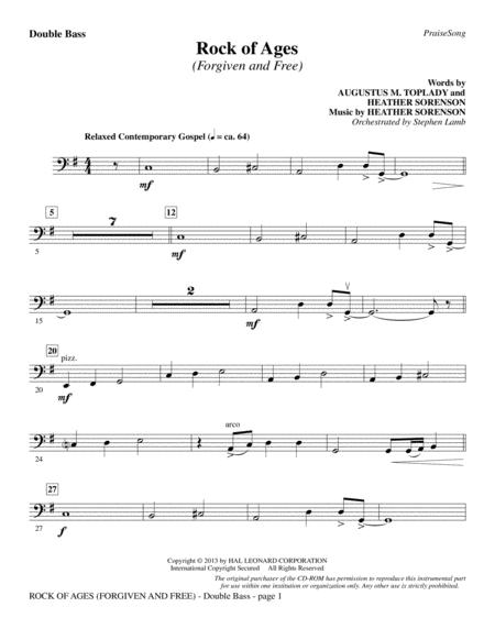 Download Digital Sheet Music of hymn / for Double Bass