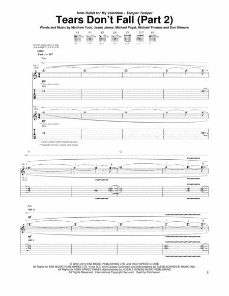 Bullet For My Valentine Sheet Music To Download And Print World