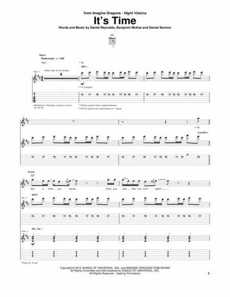 Download Digital Sheet Music of Imagine-Dragons for Guitar notes and ...
