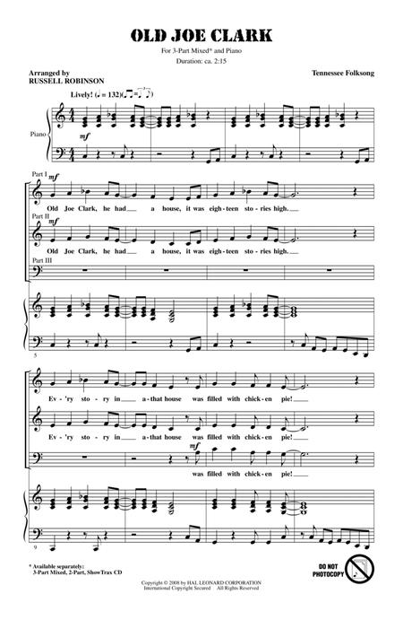 Traditional Traditional Old Joe Clark sheet music to download and ...