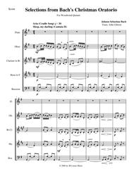 Bach's Christmas Oratorio Selections for Woodwind Quintet