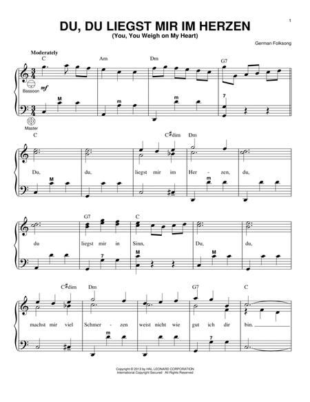 Download Digital Sheet Music of German Folk Song for Accordion
