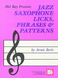 Jazz Saxophone Licks, Phrases & Patterns sheet music